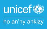Logo UNICEF - vertical - MG - background cyan